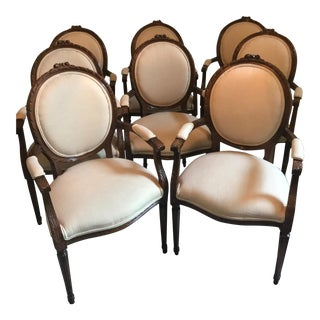 Cesar Seda Italian Hand-Crafted Dining Chairs - Set of 8