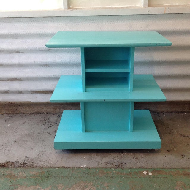 Mid-Century High Gloss Chalk Painted Cart - Image 2 of 11