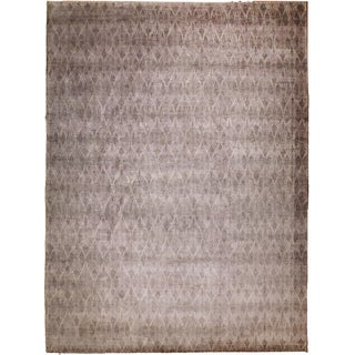 "Modern Hand-Knotted Rug - 9'3"" X 11'6"""