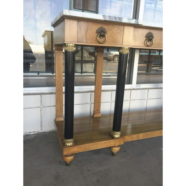 John Widdicomb Neoclassical Console Table - Image 4 of 4