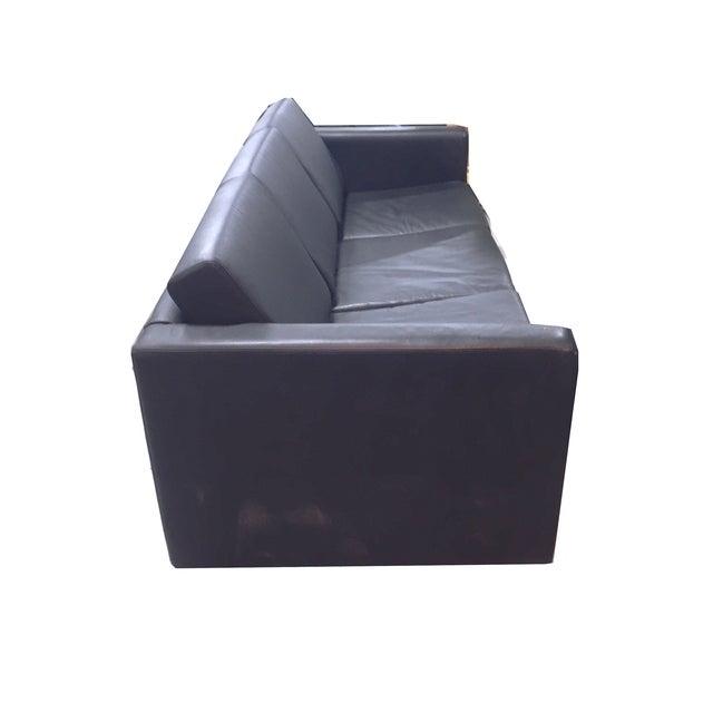 Brayton International Black Leather 3 Seater Sofa - Image 3 of 9