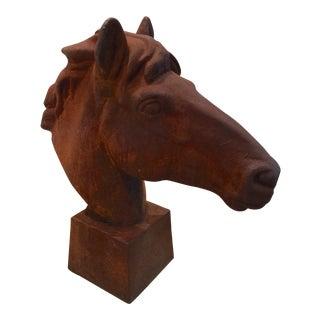 Horse Head Iron Statue
