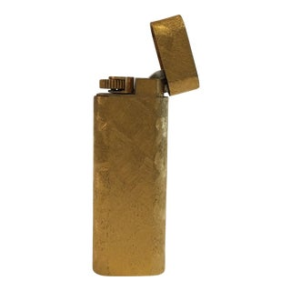 18-Karat Gold Plated Cartier Lighter