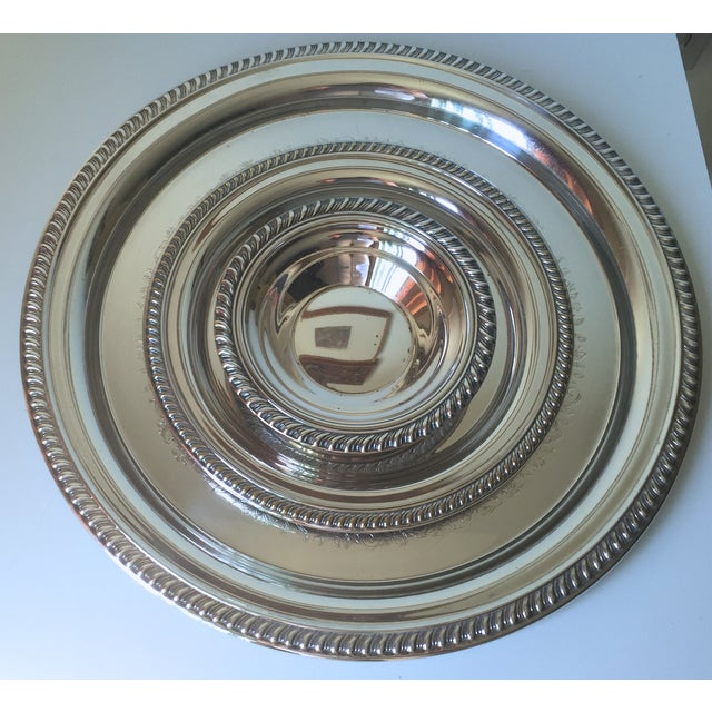Classic Vintage Silver Trays & Silver Bowl - 3 - Image 2 of 6