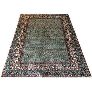 """Antique Green Persian Mir Saraband Rug, """"Paisley Design"""" - 4'5"""" x 6'6"""""""