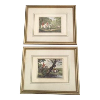 Framed Antique English Prints - A Pair