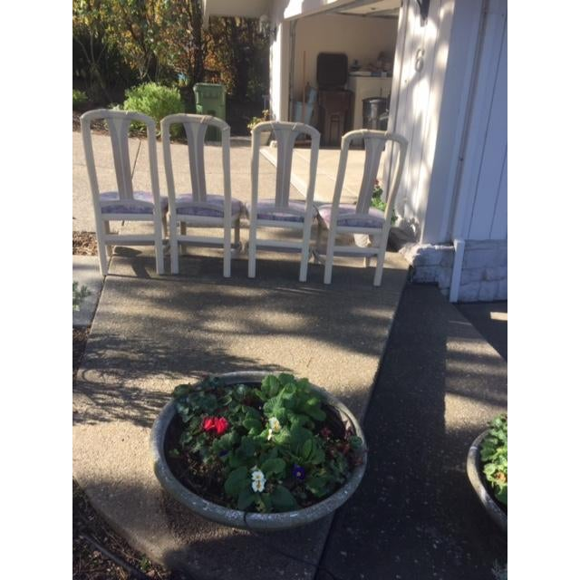 Floral Dining Room Chairs - Set of 4 - Image 4 of 4