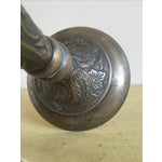 Image of Tall Solid Brass Floral Candle Stick