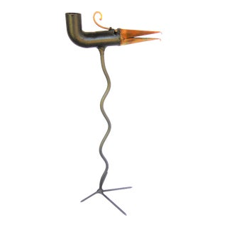 Gino Bushini Bird Figurine Candle Holder