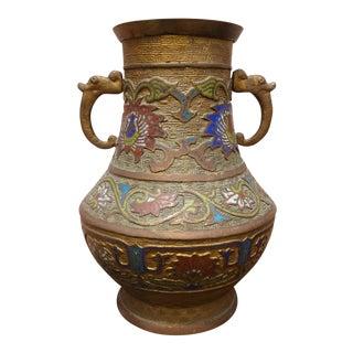 Japanese Vintage Inlaid Vase