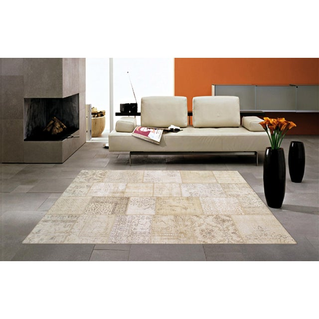"""Pasargad Patchwork Collection Rug - 6' 0"""" X 9' 1"""" - Image 3 of 3"""