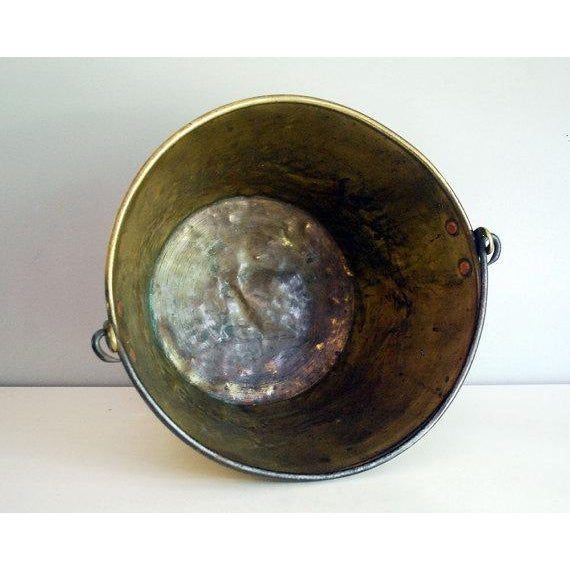 Antique Brass Bucket / Firewood Holder / Cauldron - Image 5 of 6