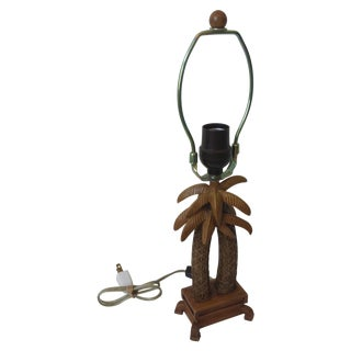 Vintage 1970's Cheyenne Palm Tree Vanity Lamp