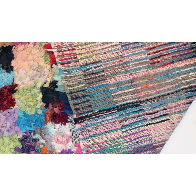 "Vintage Boucherouite Moroccan Carpet - 8'10"" X 5'4"" - Image 3 of 3"