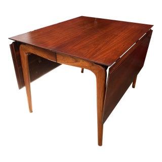 Mid-Century Modern Lane Perception Drop Leaf Dining Table
