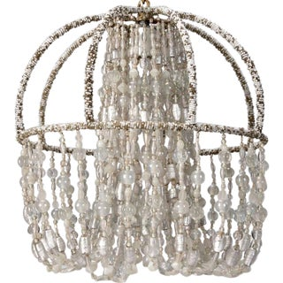 Circa 1900 Beaded French Chandelier
