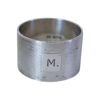 1939 Heavy English Sterling Silver Napkin Ring