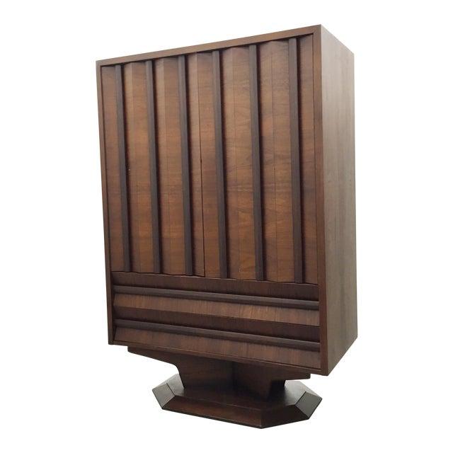 Image of Mid-Century Wood Wardrobe/Armoire