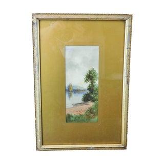 Albert A. Matthews Watercolor Painting of a Tree