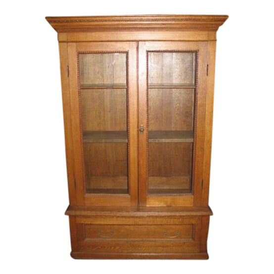 Antique American Oak Bookcase - Image 1 of 7