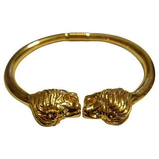 Kenneth Jay Lane Lion Head Bracelet