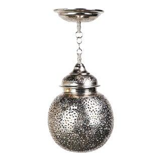 Boho Chic Moroccan Silver Chandelier