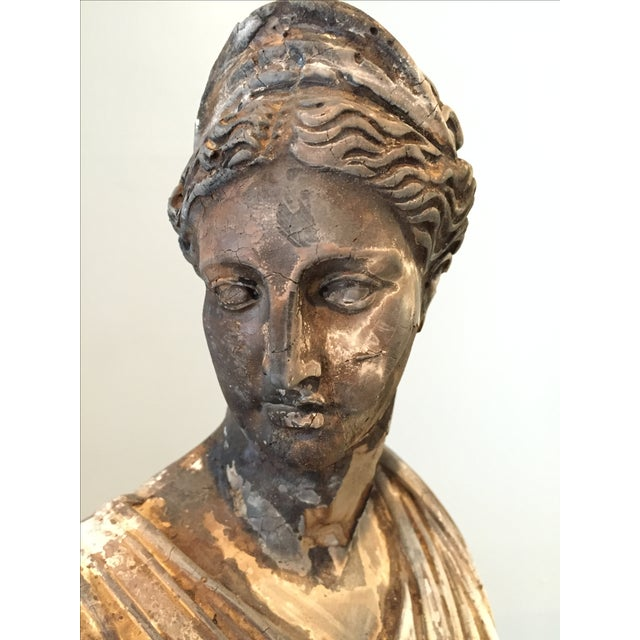 Vintage Classical Concrete Bust - Image 3 of 6