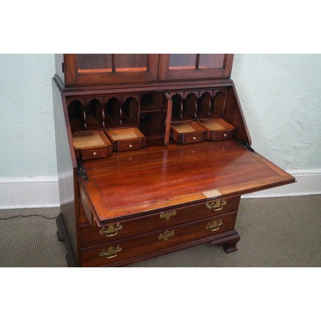 Image of Statton Solid Cherry Chippendale Secretary Desk