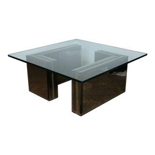 Modern Mirror & Glass Coffee Table