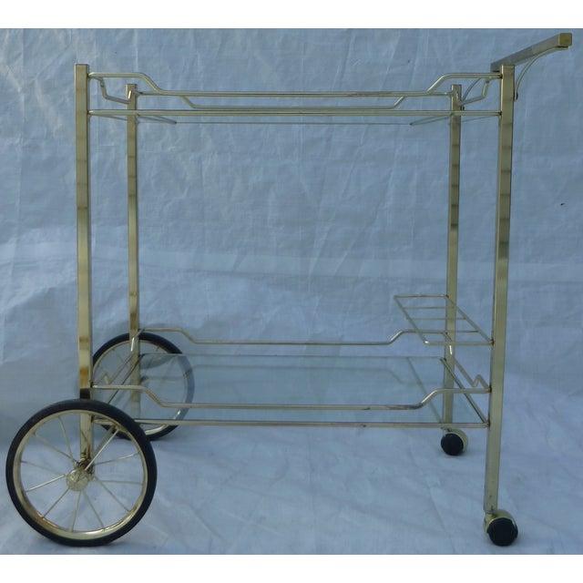 Hollywood Regency Styled Bar Cart - Image 2 of 11