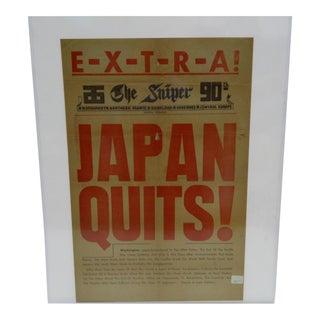 Vintage Japanese World War II Surrender Poster