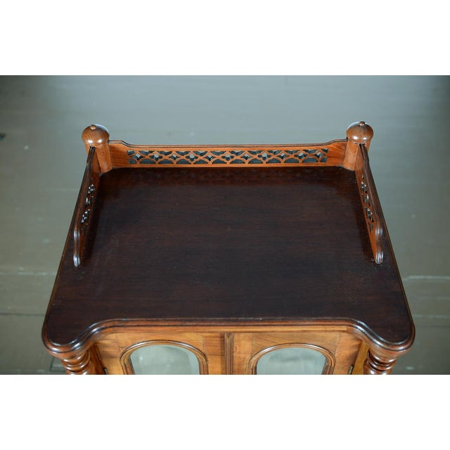 Antique Carved Mahogany Music Cabinet - Image 9 of 10