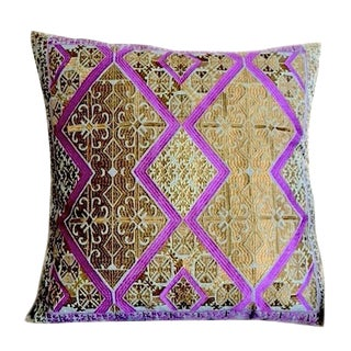 Swati Gold Embroidered Pillow