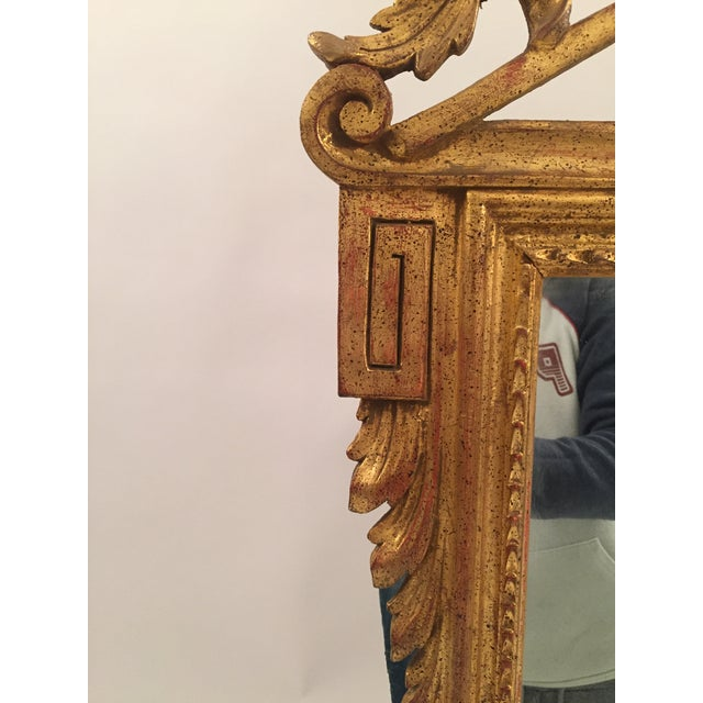 Neoclassical Gold Leaf Mirror - Image 7 of 11