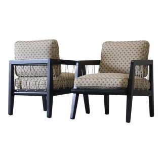 Edward Wormley Drexel Precedent Lounge Chairs - A Pair