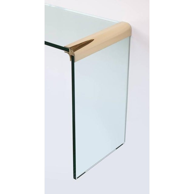 Leon Rosen for Pace Waterfall Console Table-Pair Available - Image 5 of 6