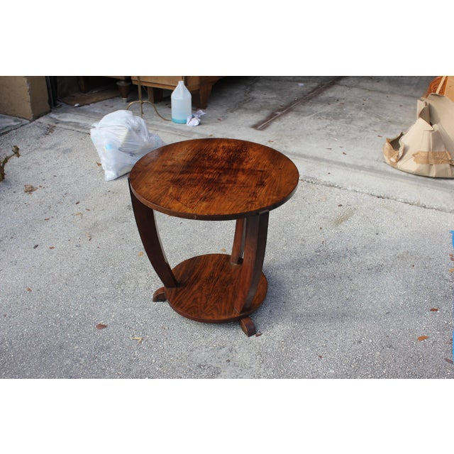 Beautiful French Art Deco Coffee Table or Side Table Exotic Walnut, circa 1940s - Image 5 of 10