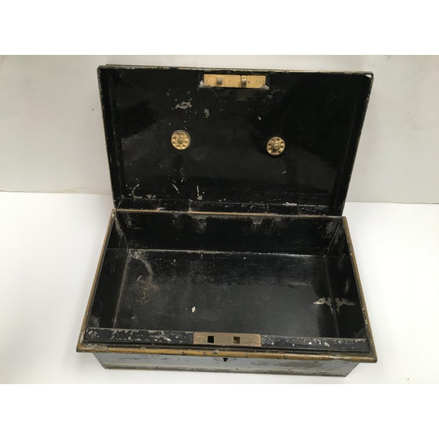 Early 1900s Antique English Metal Cash Box - Image 6 of 11