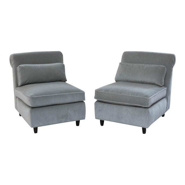 Mid-Century Slipper Chairs - A Pair - Image 1 of 10