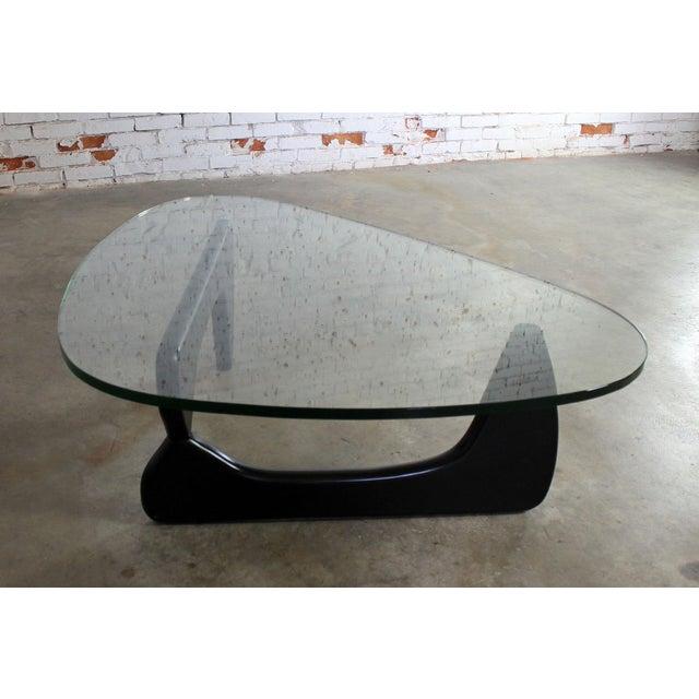Vintage Isamu Noguchi Glass Top Black Coffee Table Chairish