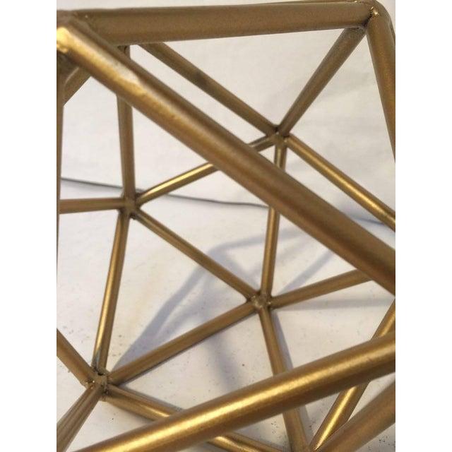 Gold Metal Geometric Decor Piece - Image 5 of 5