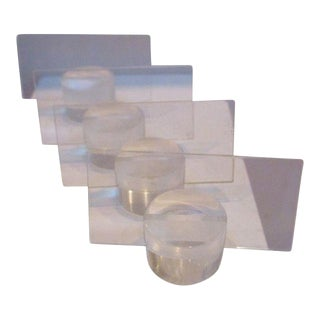 Hollywood Regency Lucite Place Card Holders - Set of 4