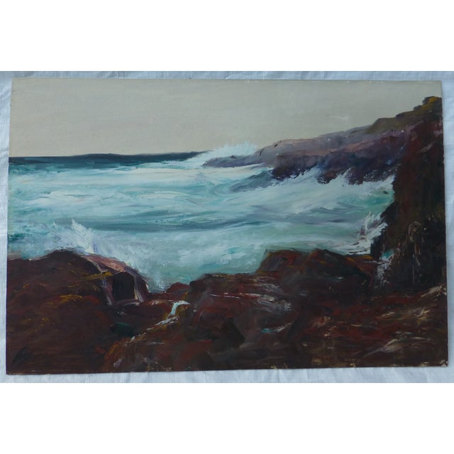 Image of h.l. Musgrave Mid-Century Atlantic Ocean Painting