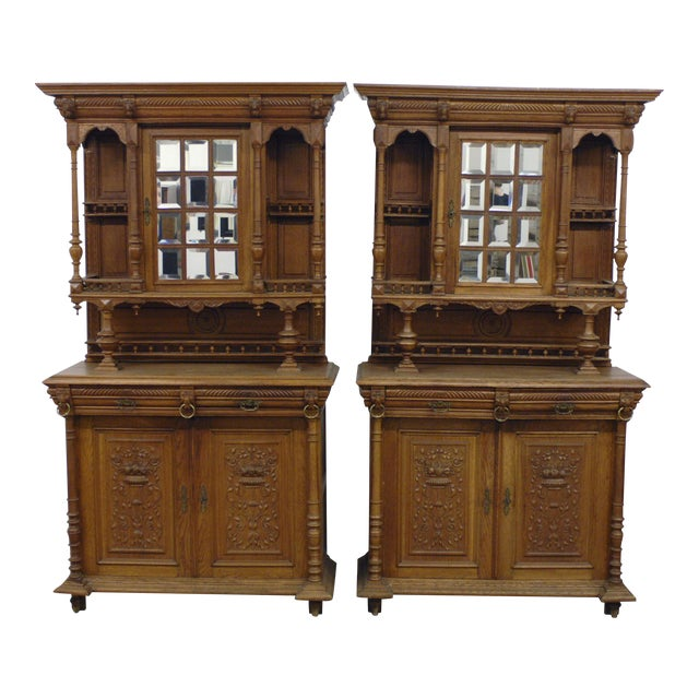 Antique French Hunt Cabinets - A Pair - Antique French Hunt Cabinets - A Pair Chairish