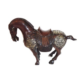 Antique Chinese Bronze War Horse Dragon
