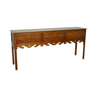 English Style Yew Wood Hunt Board Sideboard by Wright Table Co.