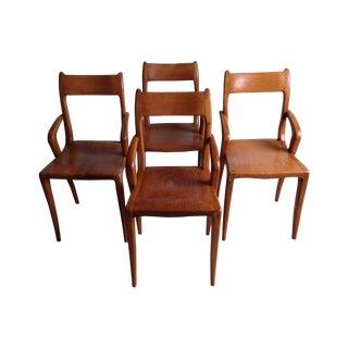 Mid-Century Modern Teak Chairs - Set of 4