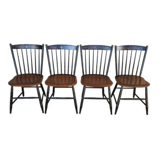 L. Hitchcock Classic Country Black Harvest Side Chairs - Set of 4