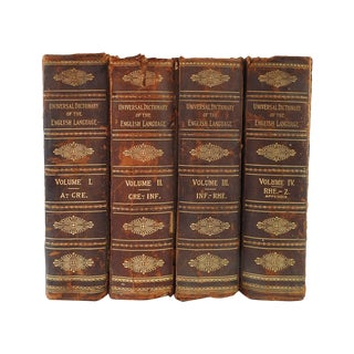 Distressed Leather Dictionaries 1897 - S/4