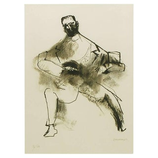 Abraham Rattner (1893-1978) Black and White Limited Edition Print, Signed and Numbered